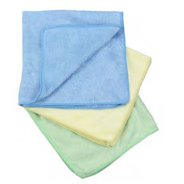 Microfiber cloth blue