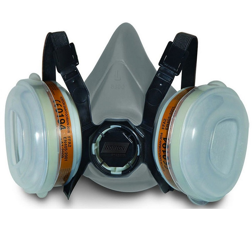 Dual cartidge respirator mask NORTON A2P2